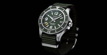 Superocean Outerknown von Breitling an grünem Nato-Band aus recyceltem Nylon