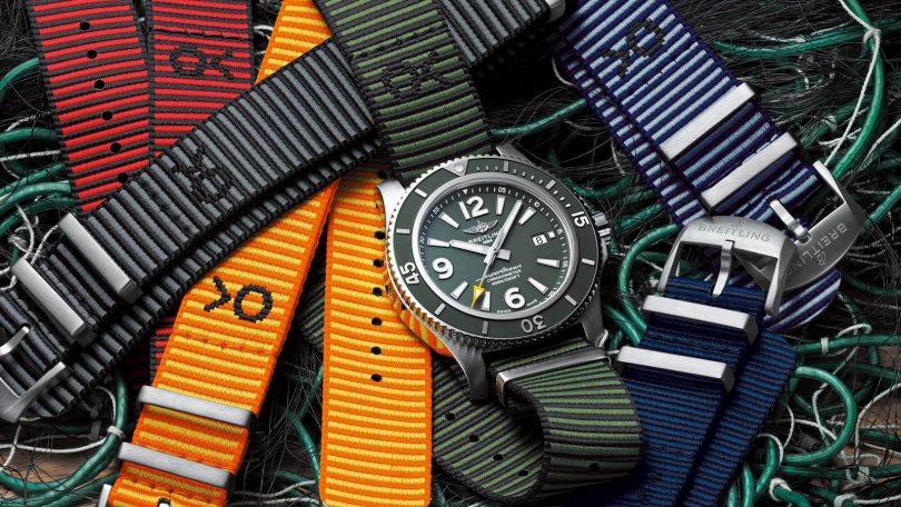 Die neuen Nato-Bänder von Breitling in Kooperation mit Outerknown gibt es in sechs unterschiedliche Farben