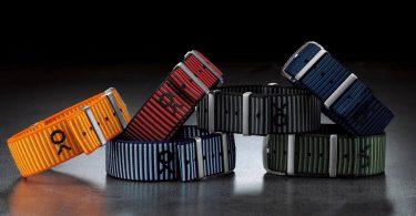 Von In 18mm bis 24mm Breite sind die neuen Nato-Bänder von Breitling in Zusammenarbeit mit Outerknown erhältlich