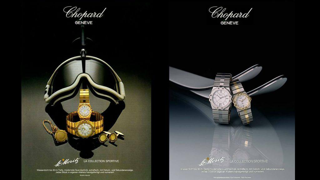 Werbeanzeigen aus den 1980er-Jahren der Nobelmarke Chopard