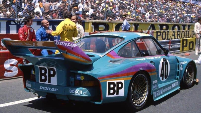 Porsche 935T mit dem Laurent Ferrier und François Servanin beim 24h Rennen von Le Mans teilnahmen und Dritte wurden.